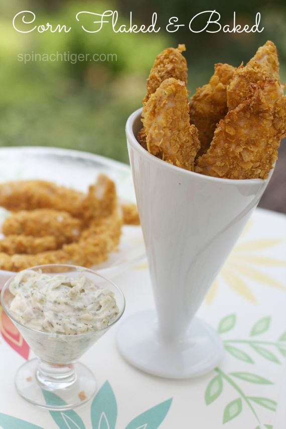 Corn Flake Crusted Chicken Tenders by Angela Roberts