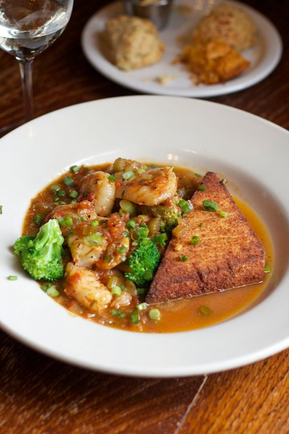 Shrimp & Grits at the Saffire by Angela Roberts