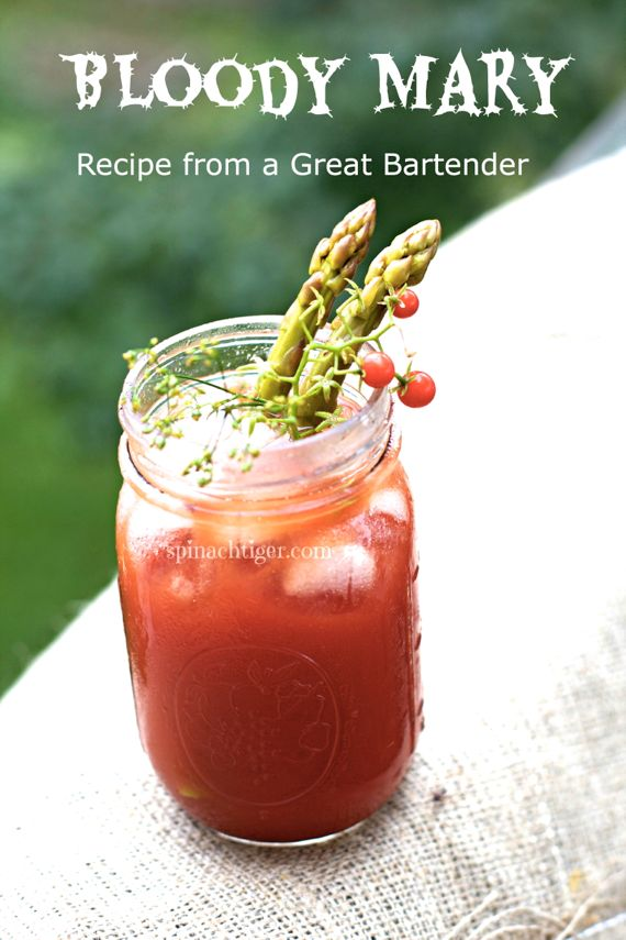 Best Bloody Mary with Pickled Asparagus by Angela Roberts