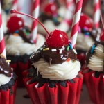 Chocolate Sundae Cupcakes and a Soda Fountain Theme Brings Back Memories