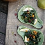 Autumn Kale Salad with Warm Maple Cider Viniagrette by Angela Roberts