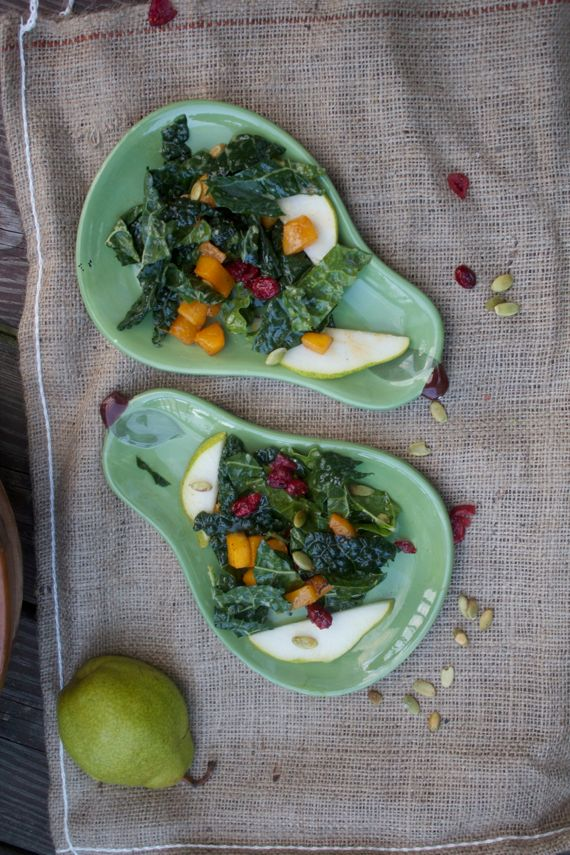 Autumn Kale Salad with Warm Cider Vinaigrette 2 by Angela Roberts