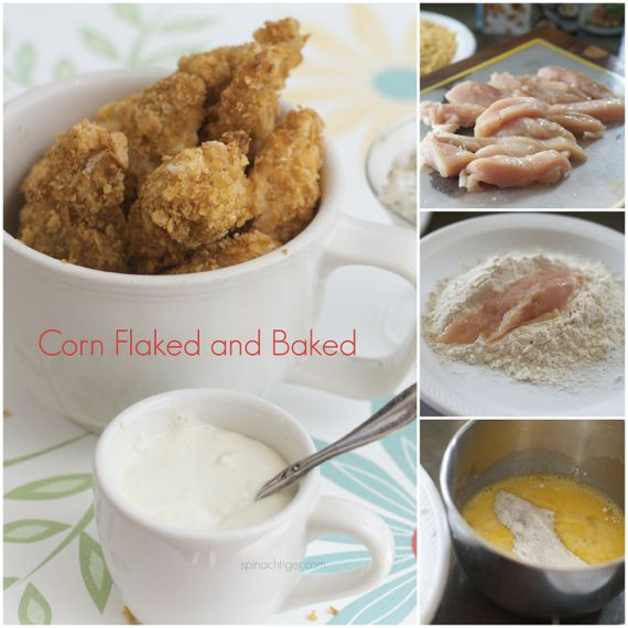 Corn flake crusted baked chicken tenders by Angela Roberts