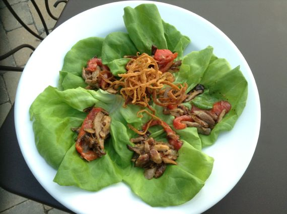 Duck Lettuce Wraps at Jean Farris Winery & Bistro by Doug Roberts