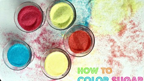 How To Color Sugar With Food Coloring
