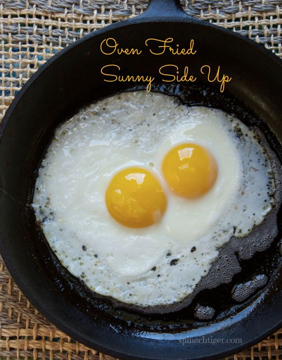 Oven Fried Sunny Side Up Eggs