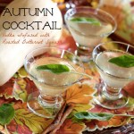 Autumn Cocktail with Roasted Butternut Squash-Infused Vodka