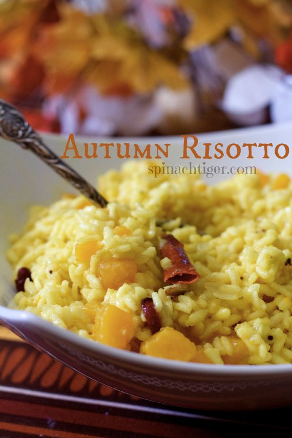 Boozy Spicy Autumn Risotto with Butternut Squash