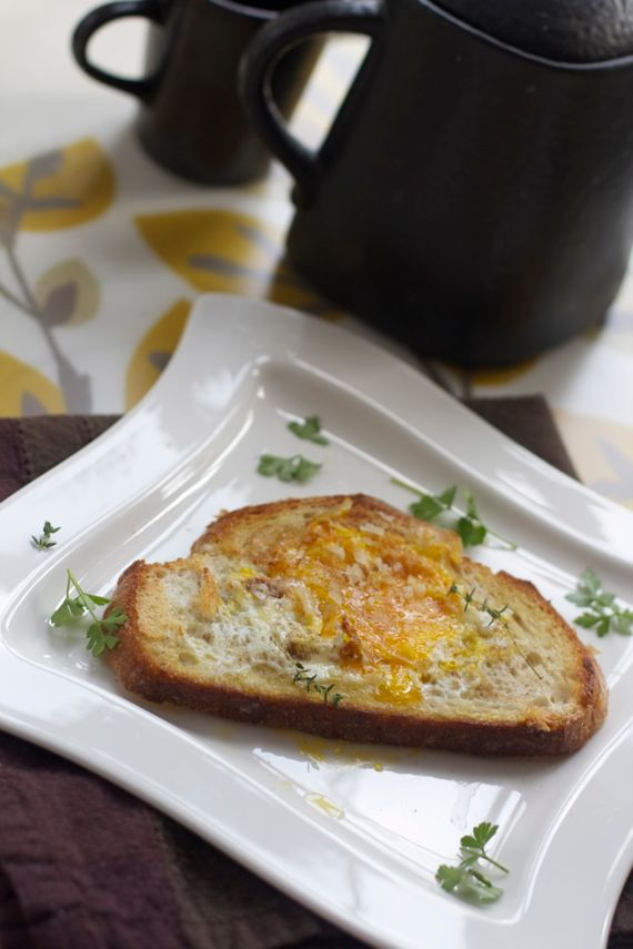 Egg in a Hole with Parmesan by Angela Roberts