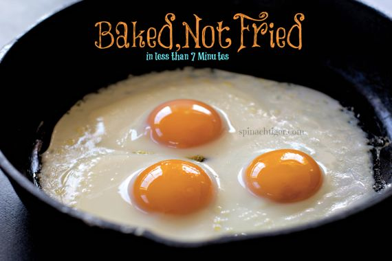 Oven Fried Sunny SIde Up Eggs in, Baked Not Fried by Angela Roberts