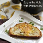 Egg in a Hole with Parmesan Cheese