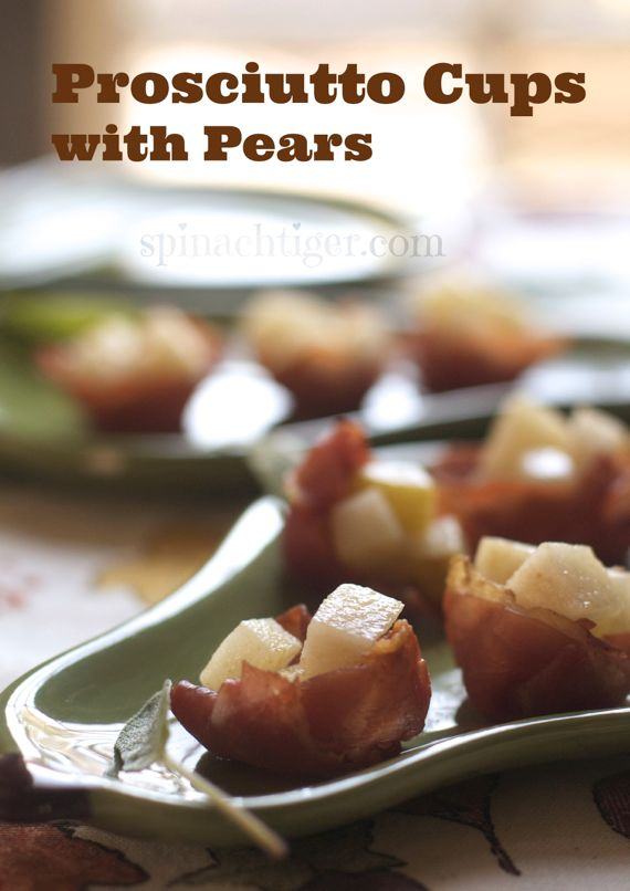 Prosciutto Cups with Pears by Angela Roberts