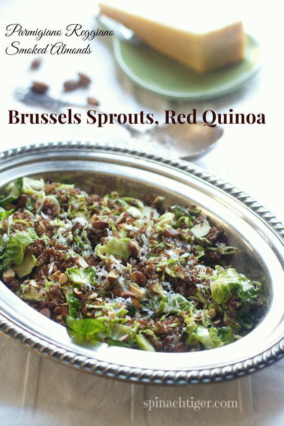 Shredded Brussels Sprouts with Red Quinoa by Angela Roberts