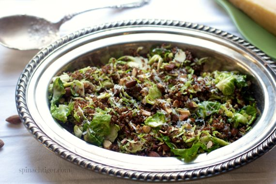 Legends of Europe: Shredded Brussels Sprouts with Red Quinoa, smoked almonds, parmigiano regianno by Angela Roberts