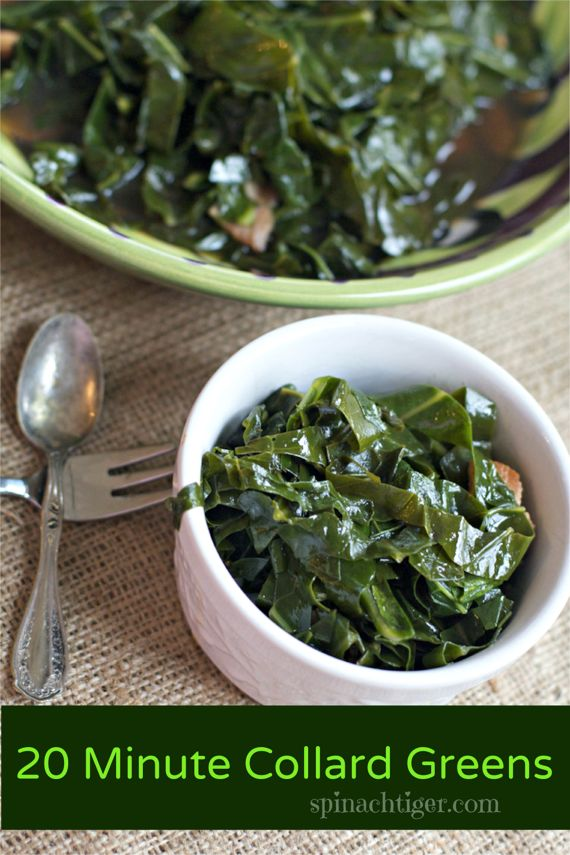 Melted Collard Greens in Twenty Minutes by Angela Roberts