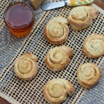 Honey Parmesan Pinwheel Biscuits