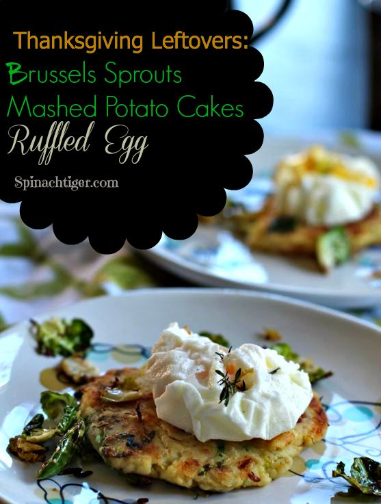 Potato Cake with a Ruffled Egg and Brussels Sprouts