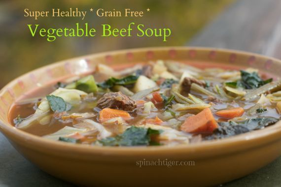 Paleo Grain Free Beef Vegetable Soup by Angela Roberts