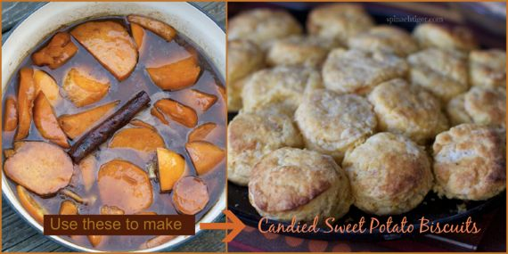 Candied Sweet Potatoes Biscuits by Angela Roberts