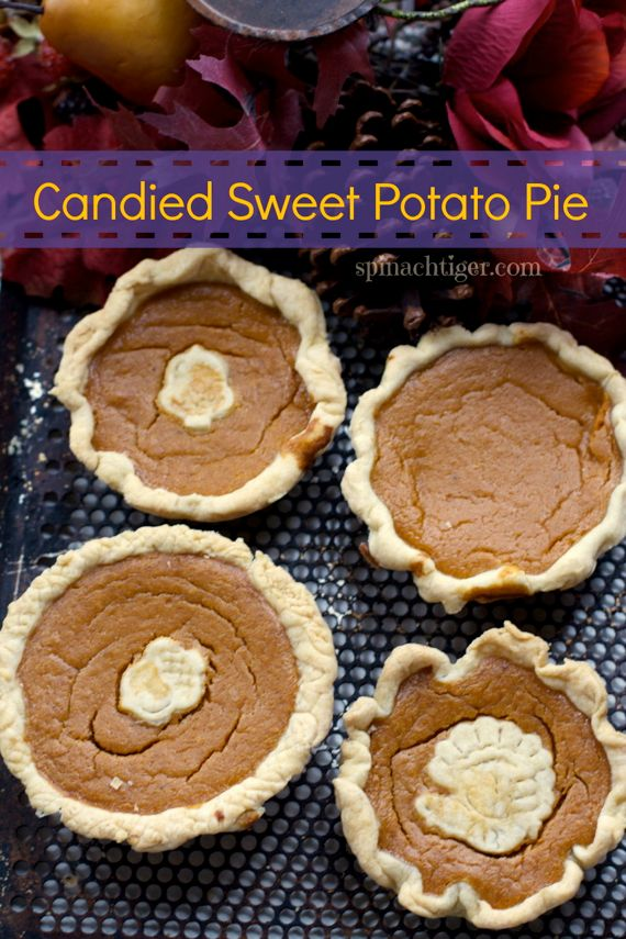 Two Recipes for Homemade southern sweet potato pie from Spinach Tiger
