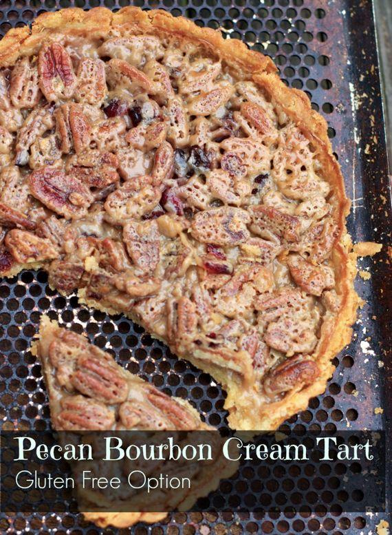 Gluten Free Pecan Bourbon Cream Tart by Angela Roberts