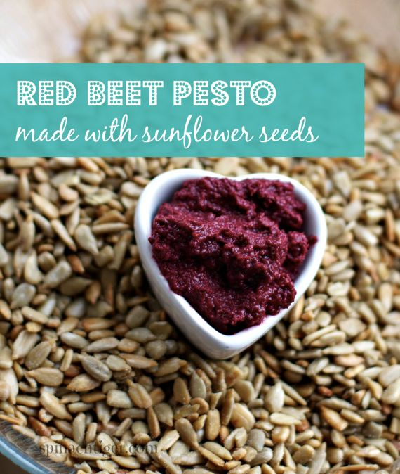 Red Beet Pesto with Sunflower Seeds by Angela Roberts