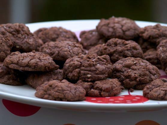 Salty Nutty Double Chocolate Pecan Cookies