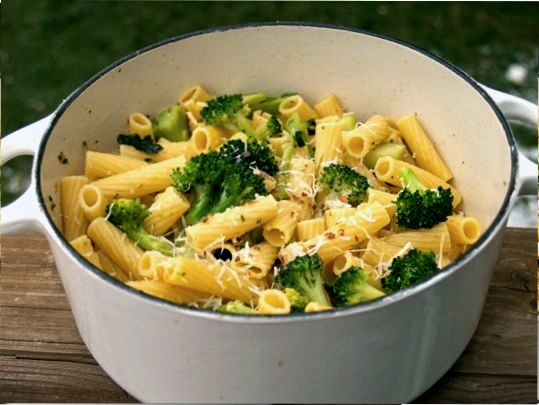 Pasta with Broccoli Anchovy Sauce by Angela Roberts