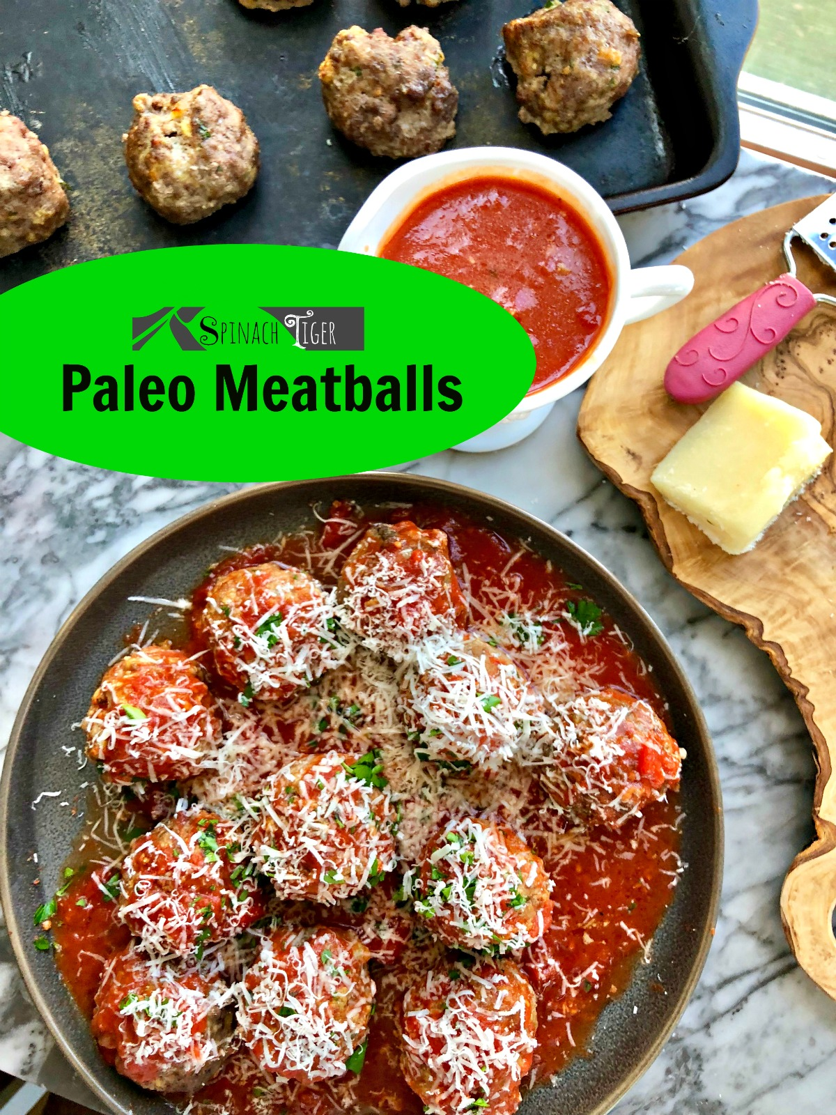 Paleo Meatballs with Ground Beef from Spinach TIger
