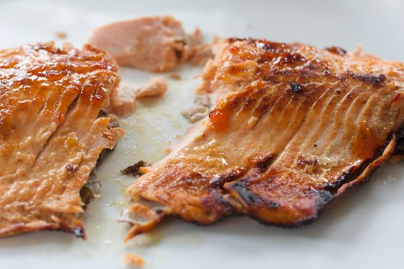 Pan Fried Salmon 1 by Angela Roberts