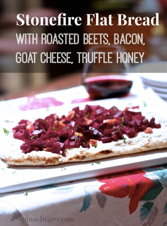 Red Beet & Bacon, Goat Cheese on Stonefire Flat Bread