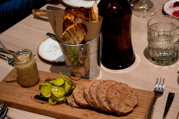 Pork Terrine with Housemade Pickles at Omni Hotel Nashville Kitchen Notes by Angela Roberts