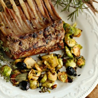 Rack of Lamb and Brussels Sprouts in Under 30 Minutes