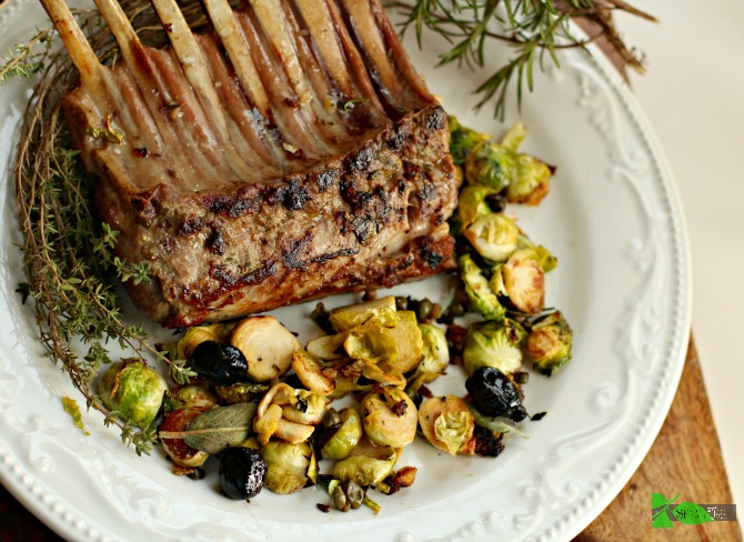 Rack of Lamb from Spinach Tiger