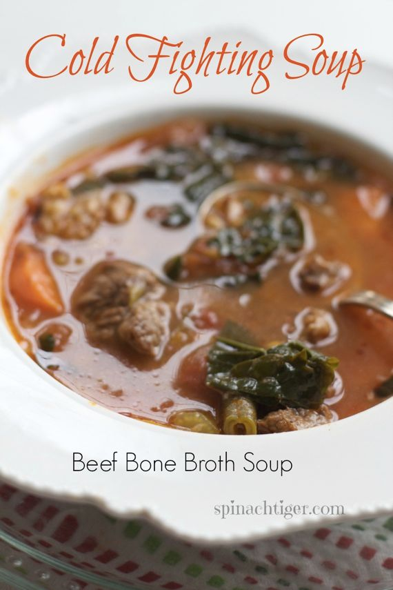 Cold Fighting soup: Tomato Beef with bone broth by Angela Roberts