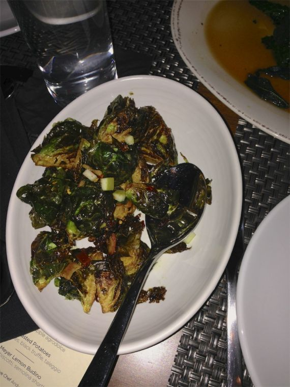 Brussels Sprouts at Moto Cucina Enoteca by Angela Roberts