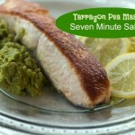Tarragon Pea Mash Pan Fried Salmon by Angela Roberts