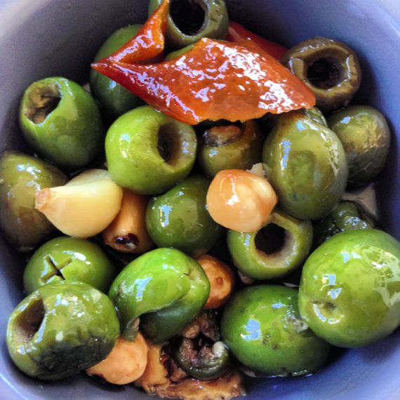 Duck Fat Olives at Moto Enoteca Cucina by Angela Robert