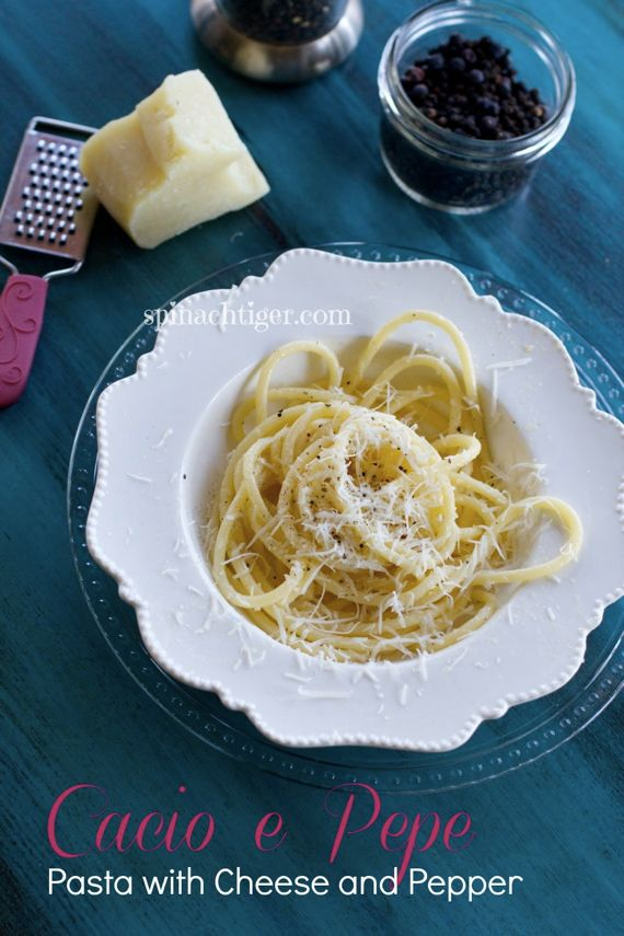 Cacio e Pepe – Bucatini with Pecorino Romano Cheese and Black Pepper