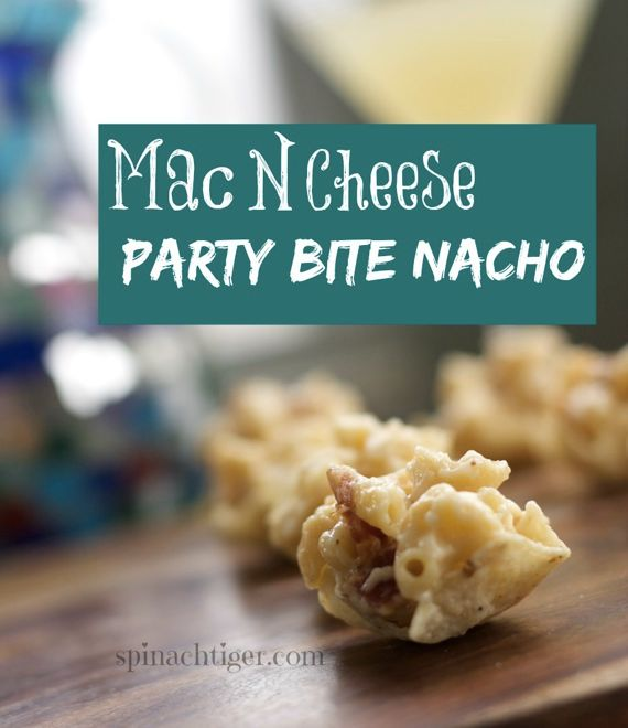 Bacon Mac and cheese nacho party bite by Angela Roberts