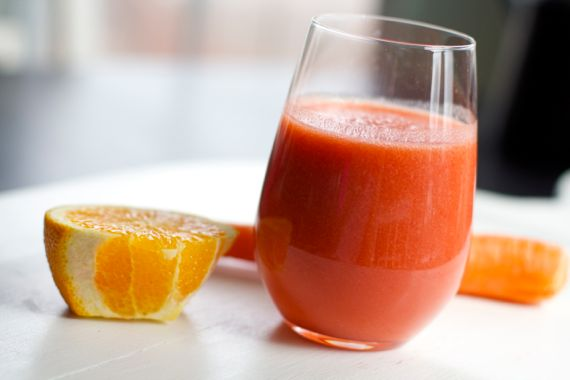 Vitamin C Vitamix Smoothie: Orange, Carrot, Strawberry, Apple by angela roberts