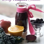 Cold Fighting Smoothie made with Blueberry, Orange and Kale by Angela Roberts