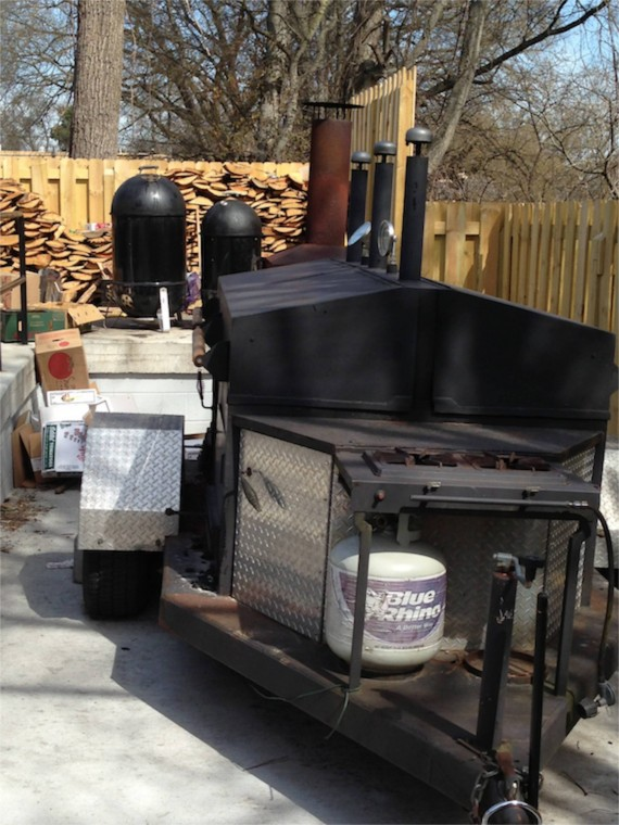 Smoker at Mitchell's Deli, East Nashville by Angela Robets