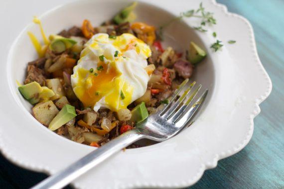 Ruffled Egg with Roast Beef Hash by Angela Roberts