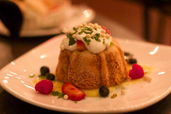 Olive Oil Cake with Black Pepper Ice Cream at Bound'ry by Angela Roberts