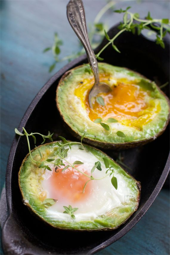 Baked Avocado Egg with Lime Hollandaise Sauce