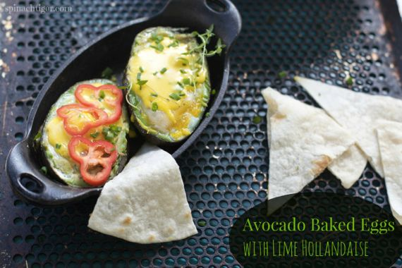 Avocado Baked Eggs from Spinach Tiger