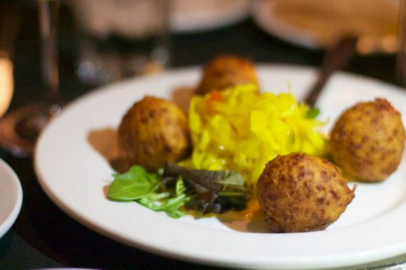 Cheese Fritters at the Yellow Porch by Angela Roberts