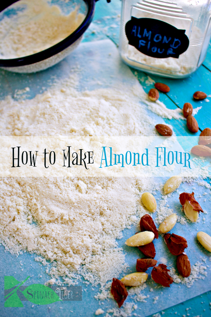 How to Make Blanched Almond Flour from spinach tiger #almondflour