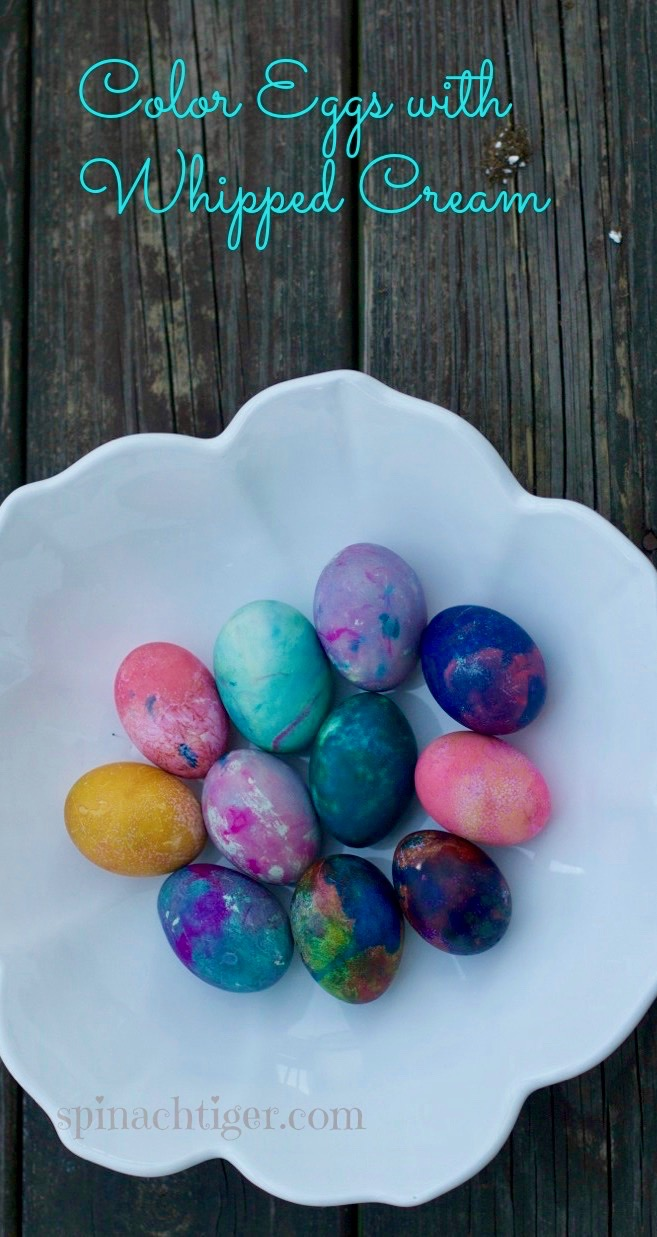 How to Color Easter Eggs 1 from Spinach Tiger